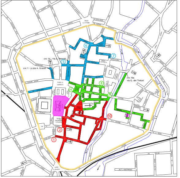 Italien Lombardei Monza ZTL Karte