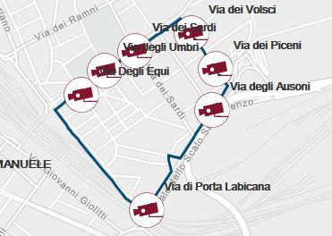 ZTL mapa San Lorenzo Roma Italija