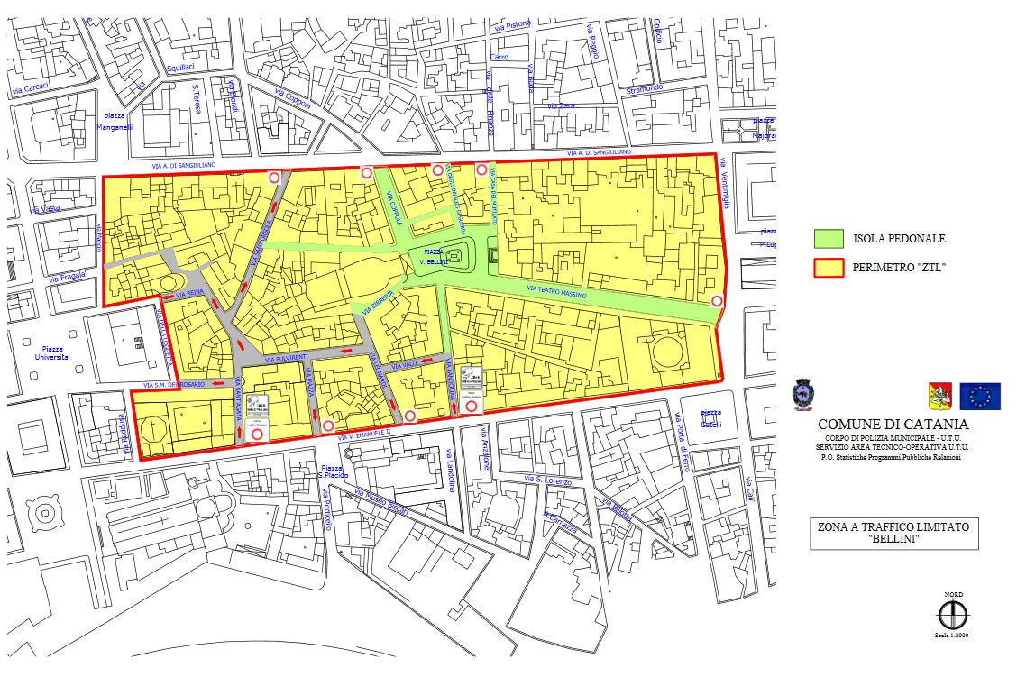 Catania kaart