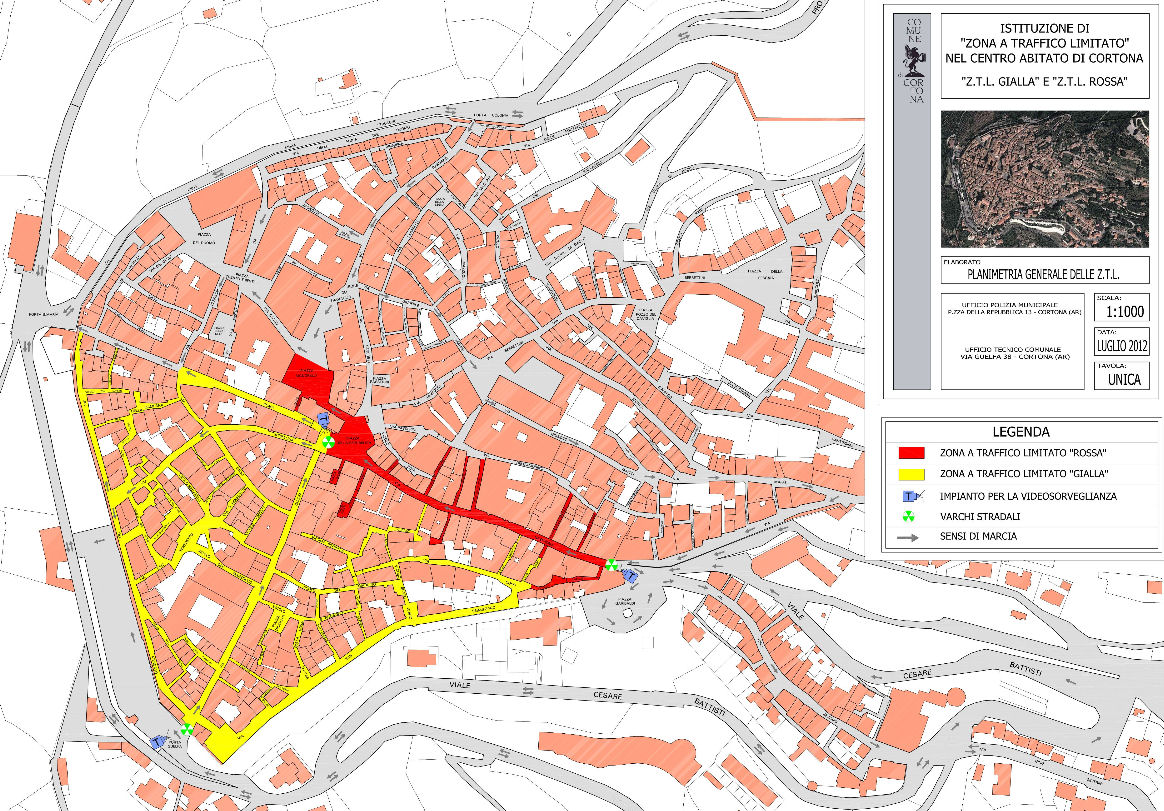 Cortona haritası