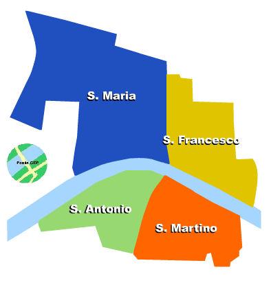 ZTL-kartta Pisa Toscana Italia