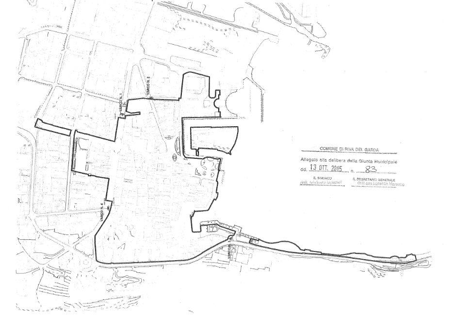 Italy Trentiono Riva del Garda Mapa