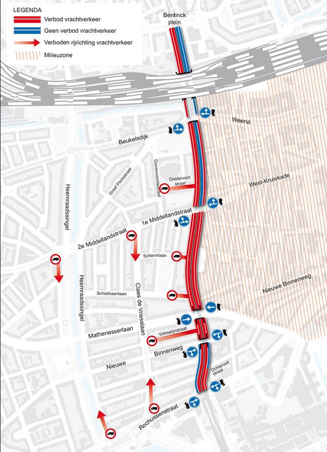 Ротердам забрана Мапа на камиони