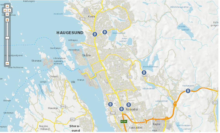 Haugesund kaart