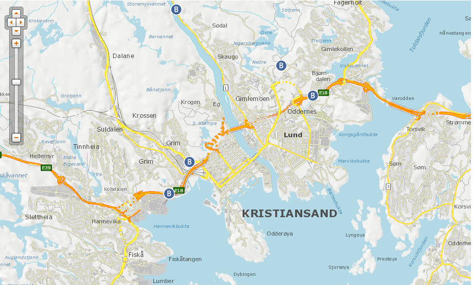 Kristiansand map
