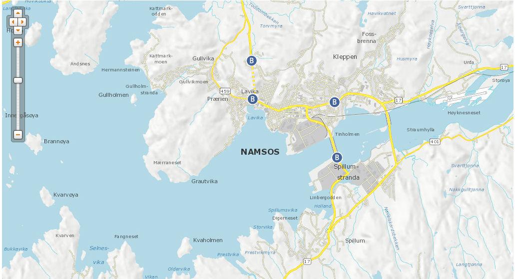 Map Namsos