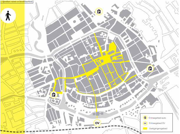Groningen car-free area map