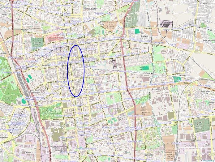 Mapa Lodz