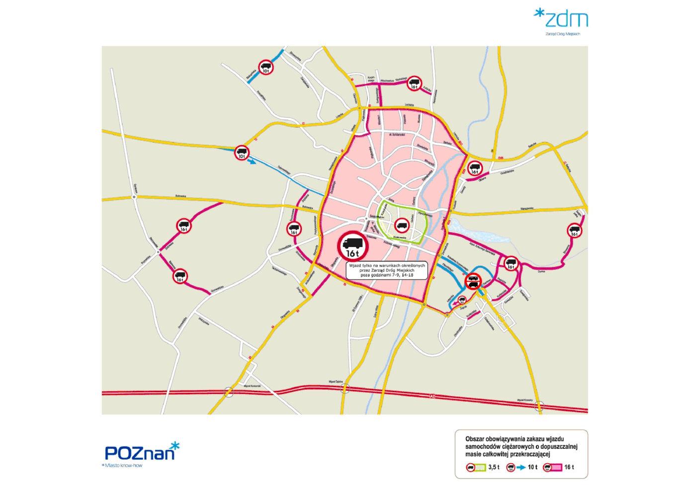 Mapa Poznan
