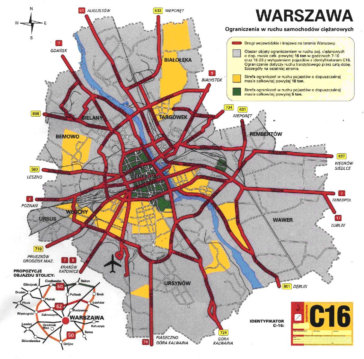 Варшава мапа