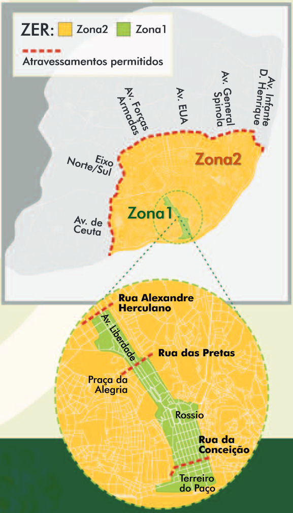 mappa Lisbona