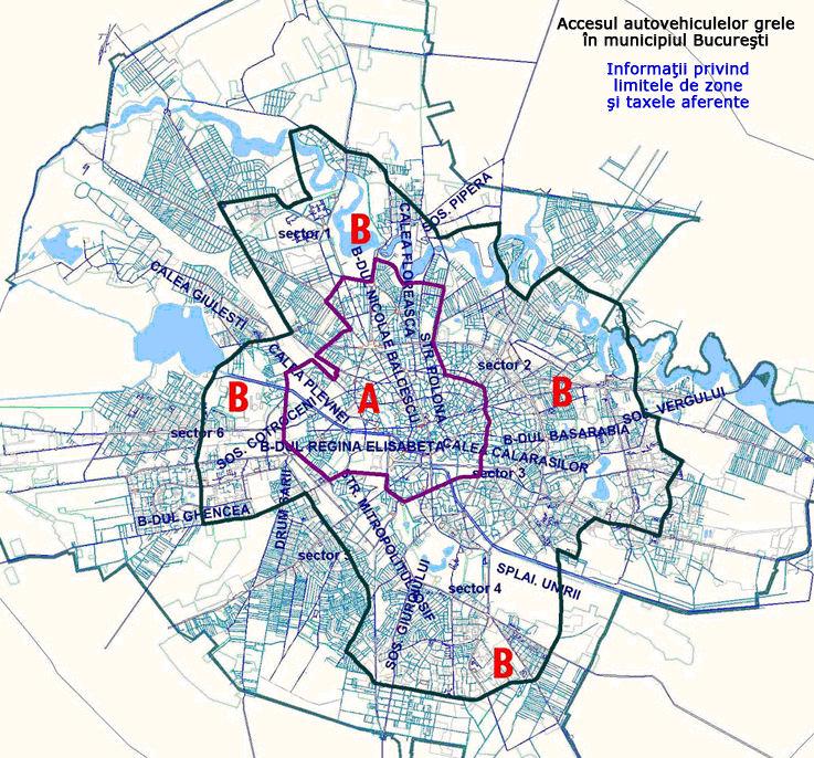 Bucarest-mapa