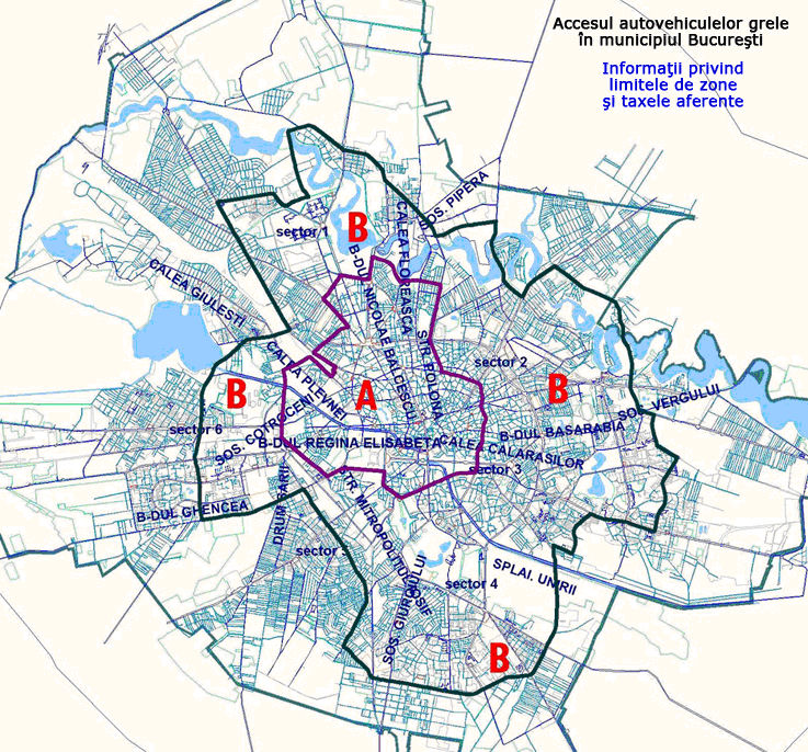 Bucharest kartē