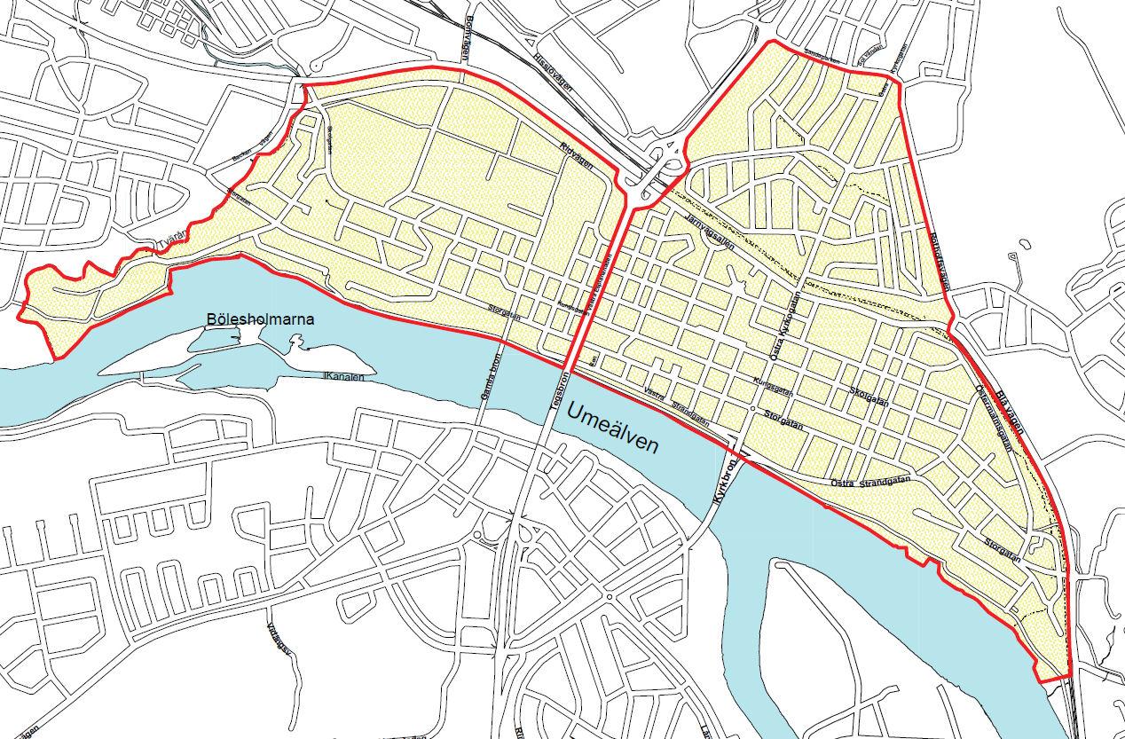 / Umeå karta