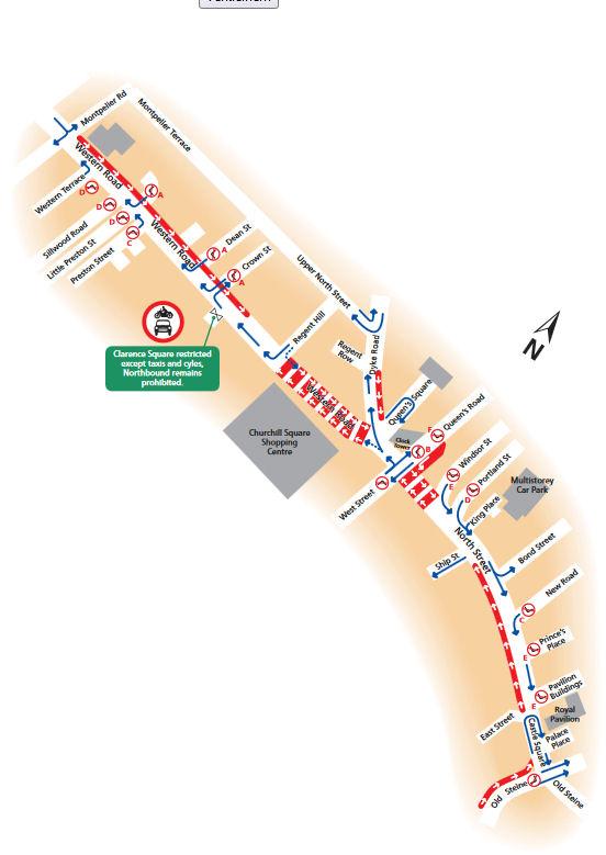Brighton mappa