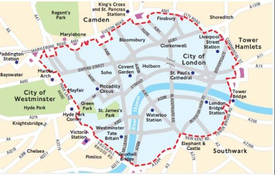 Low Emission Zone Map >> London