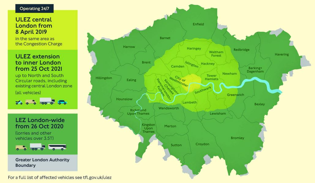 Lez Zone Map London