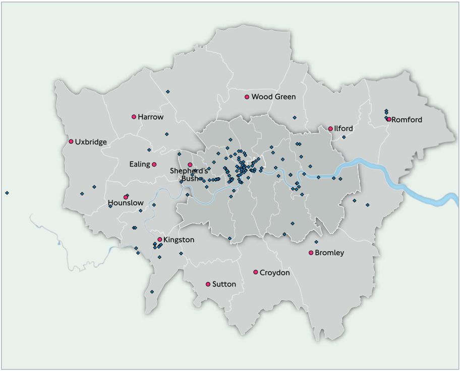 Londonas autobusų įrenginiai