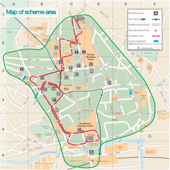 Nottingham kartalla