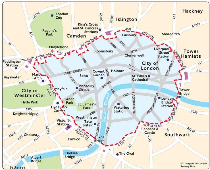 Ulez Лондон Карта