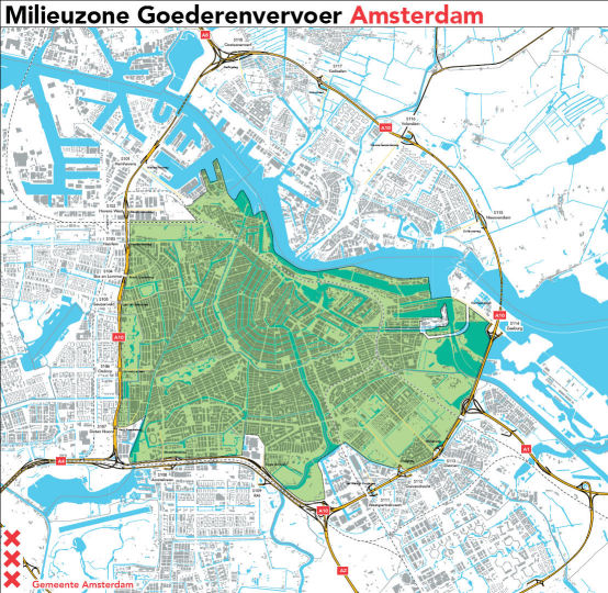 Amsterdam LEZ map