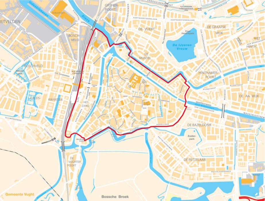 Мапа s'Hertogenbosch