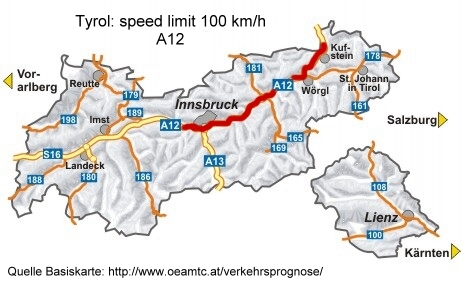 map for air quality based speed limit