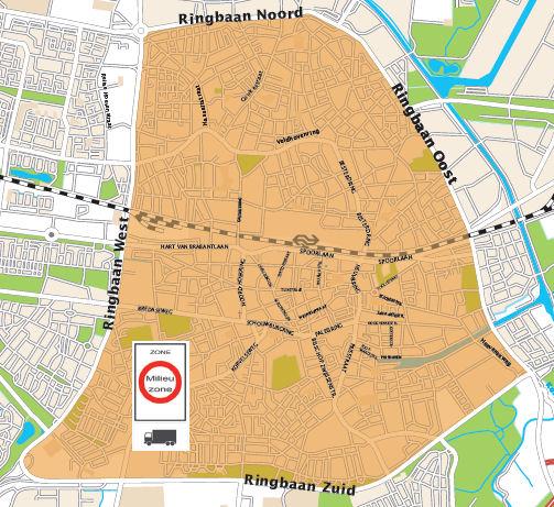 Mapa Tilburg