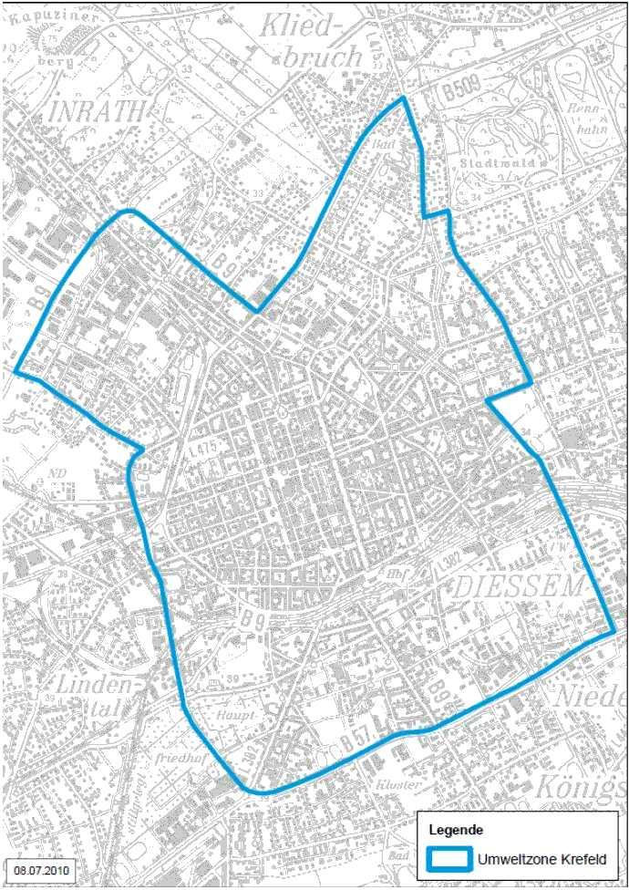 Krefeld LEZ Karte