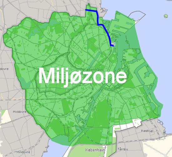 København & Frederiskberg LEZ map