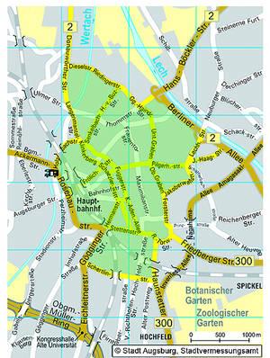 Аугсбург LEZ мапа