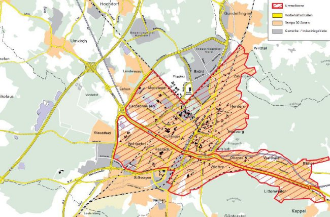 Freiburg  LEZ map