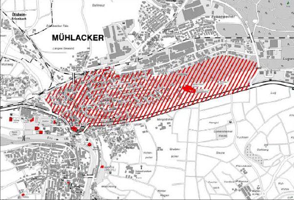 Mühlacker LEZ kaart