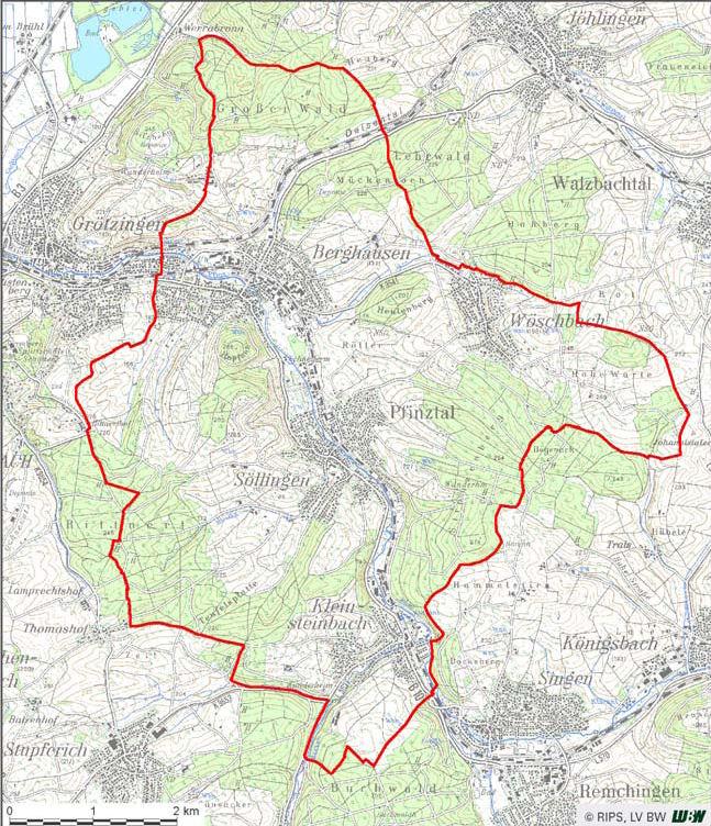 Pfinztal LEZ map