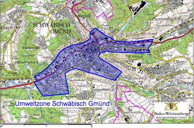Mapa Schwäbisch Gmünd-LEZ