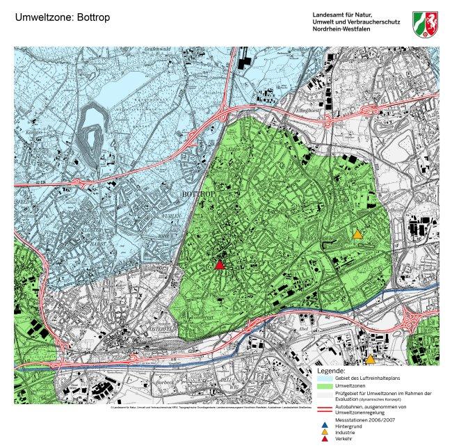 Mapa Bottrop LEZ