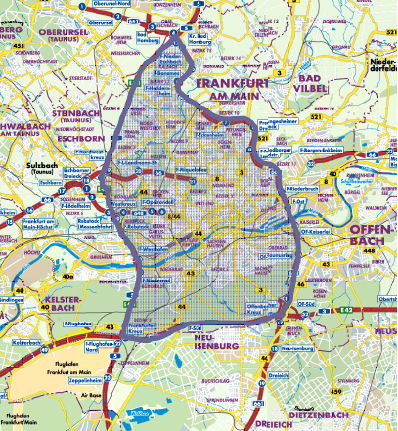 Frankfurt LEZ map