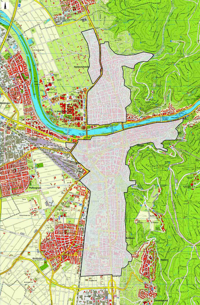 Map Heidelberg LEZ