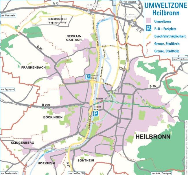 Heilbronn LEZ mapa