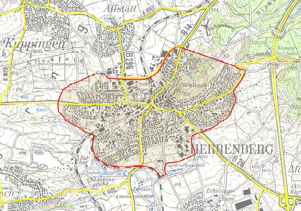 Herrenberg LEZ map