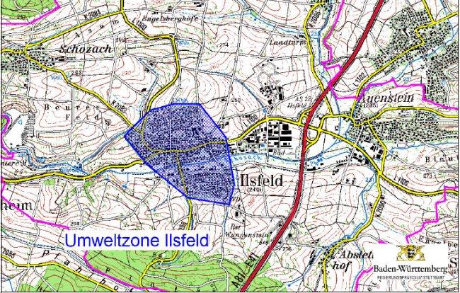 Ilsfeld LEZ-mapa