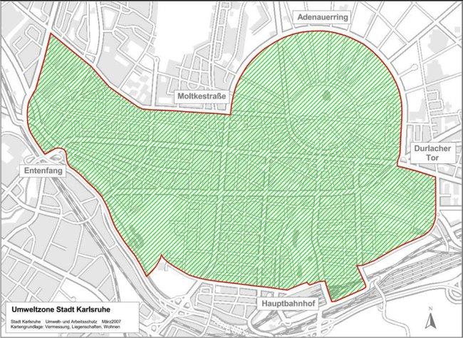Karlsruhe LEZ mapa
