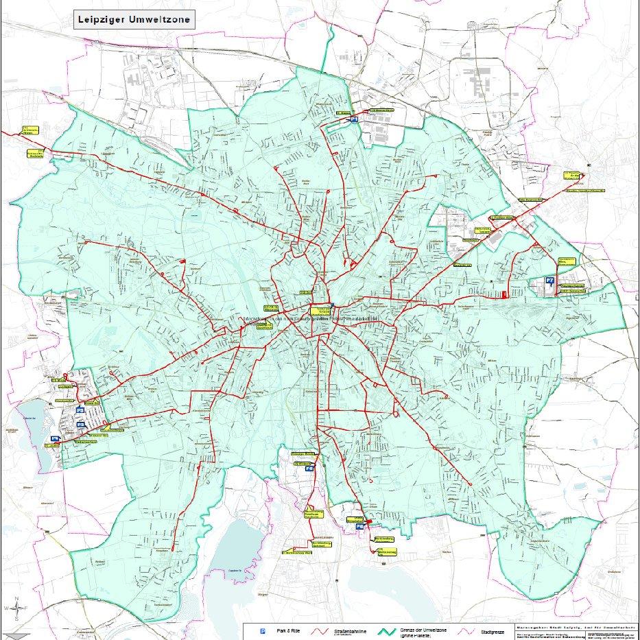 Umweltzone Leipzig Karte.Leipzig