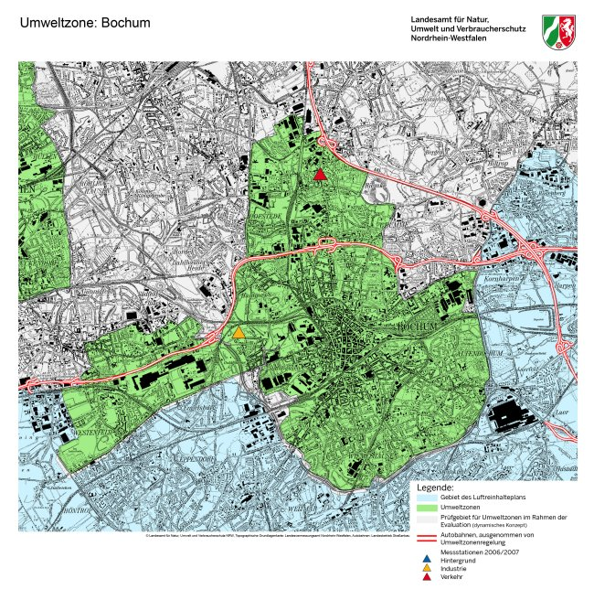 Bochum LEZ haritası