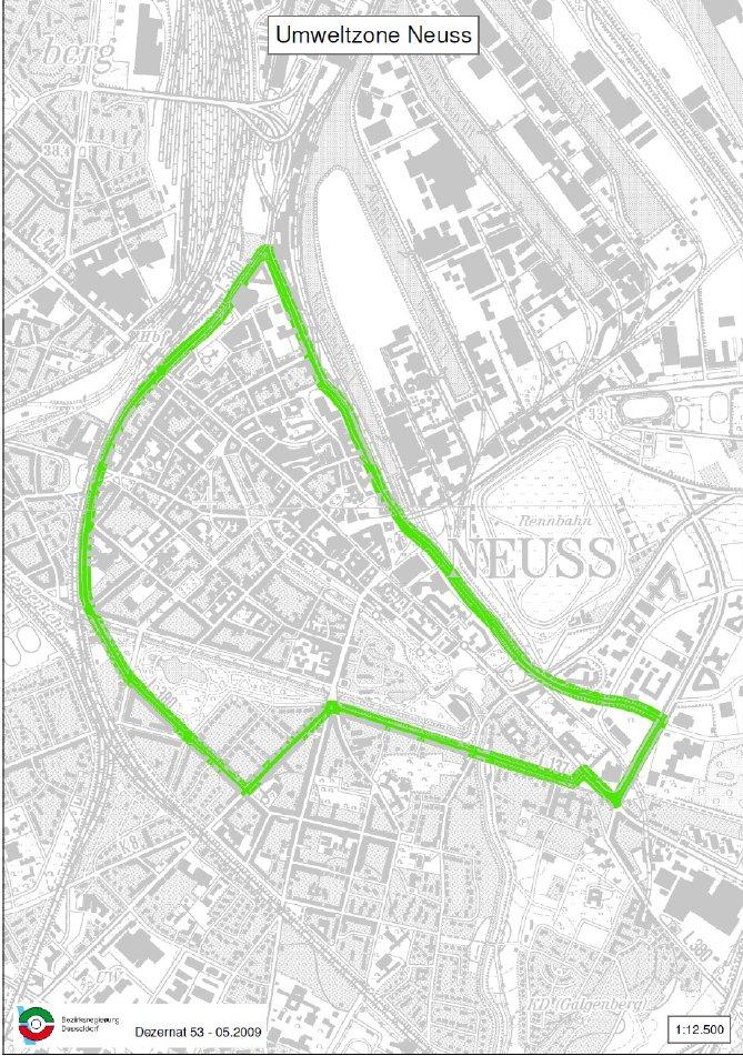 Map Neuss LEZ