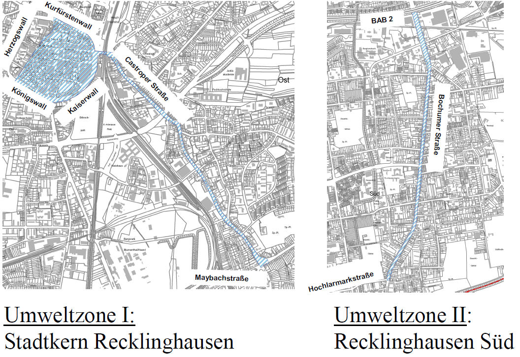 Recklinghausen LEZ map