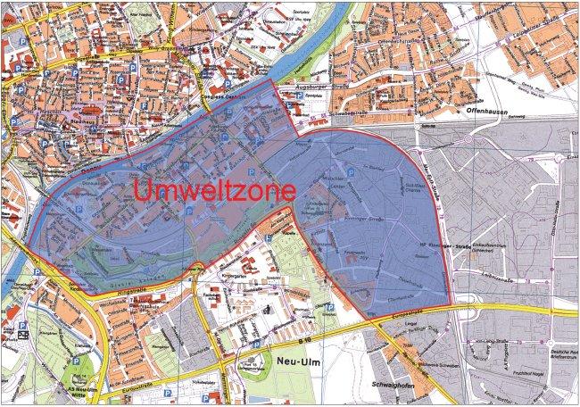 Neu-Ulm LEZ map