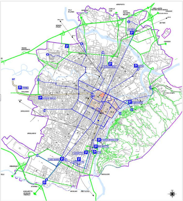 Turin LEZ Boundary map