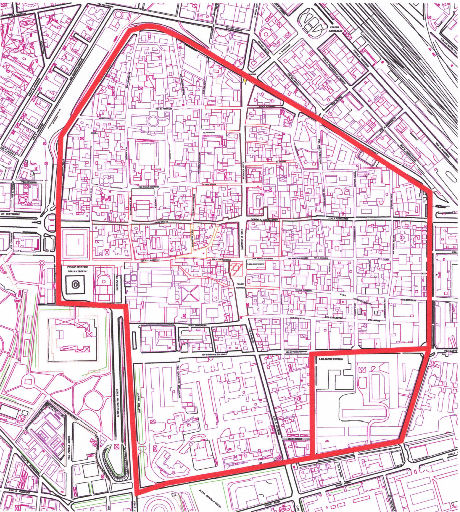Novara LEZ Boundary map