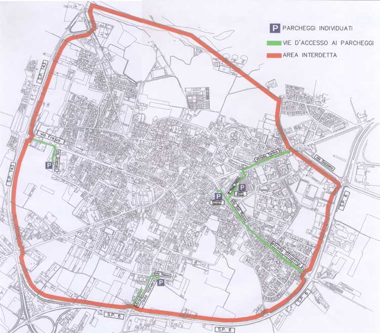 Orbassano LEZ Boundary map